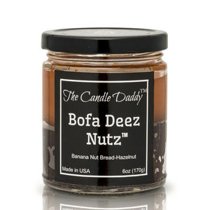 Bofa Deez Nutz  Funny Jar Candle- 6 Ounce